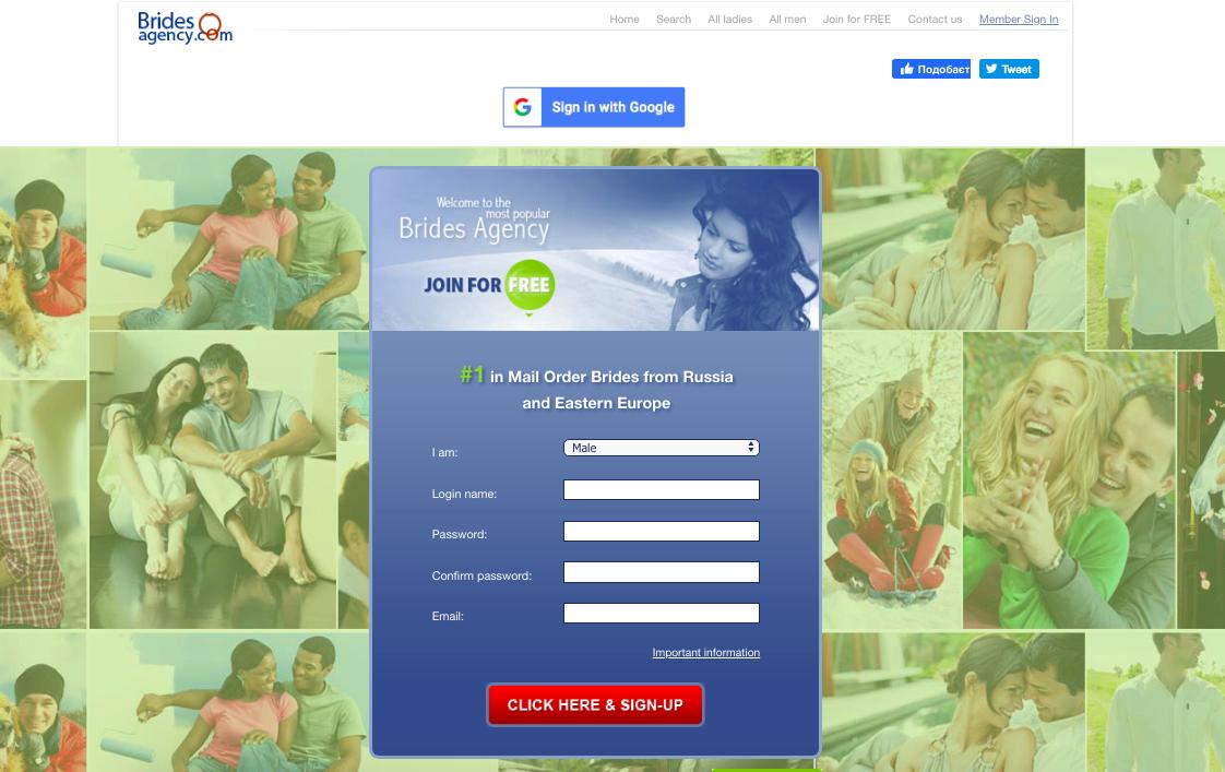 main page BridesAgency.com