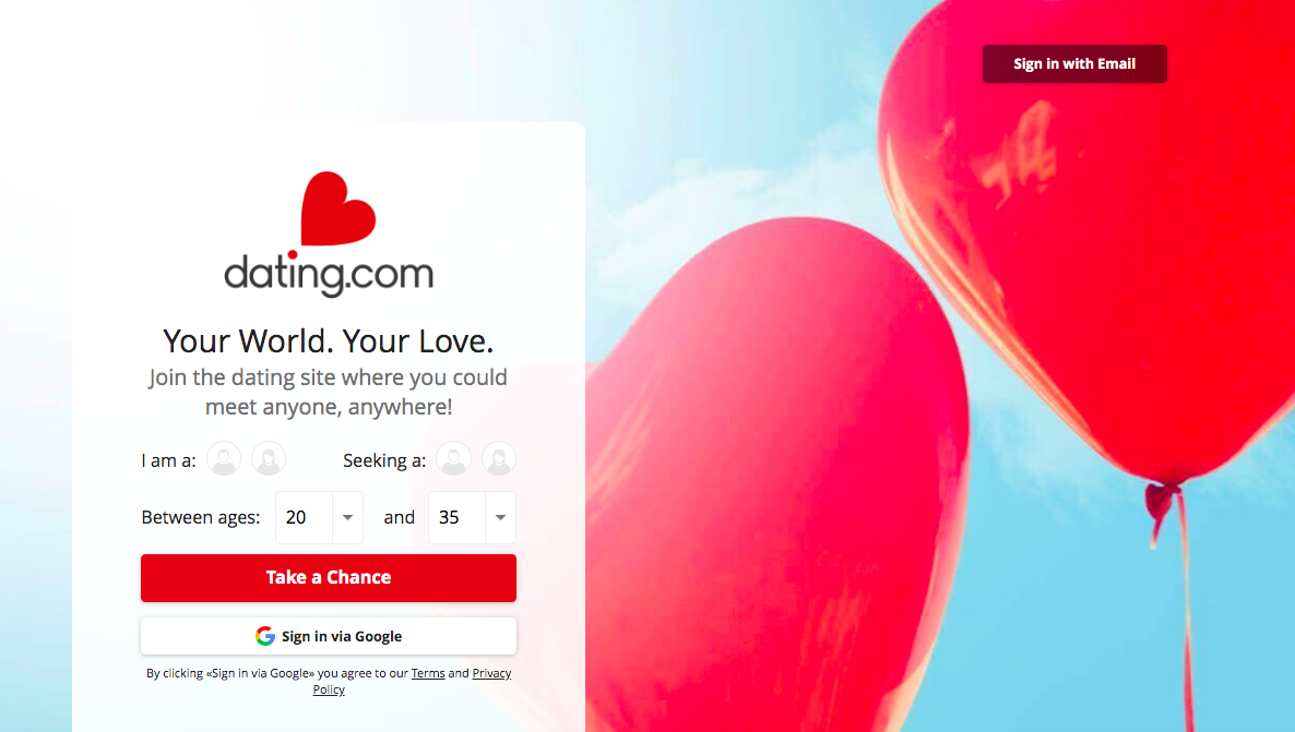 main page Dating.com