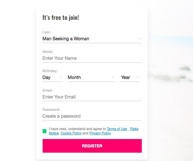 register form AsianFeels