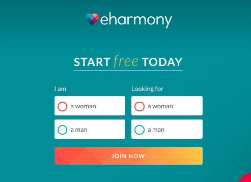 register form EHarmony